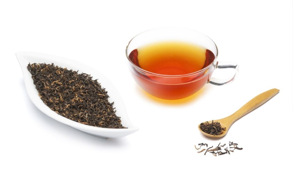"Assam tea is a black tea named after the region of its production, Assam, in India. Assam tea is manufactured specifically from the plant Camellia sinensis var. assamica (Masters).[1][2] This tea, most of which is grown at or near sea level, is known for its body, briskness, malty flavour, and strong, bright colour. Assam teas, or blends containing Assam, are often sold as ""breakfast"" teas. For instance, Irish breakfast tea, a maltier and stronger breakfast tea, consists of small-sized Assam tea leaves"