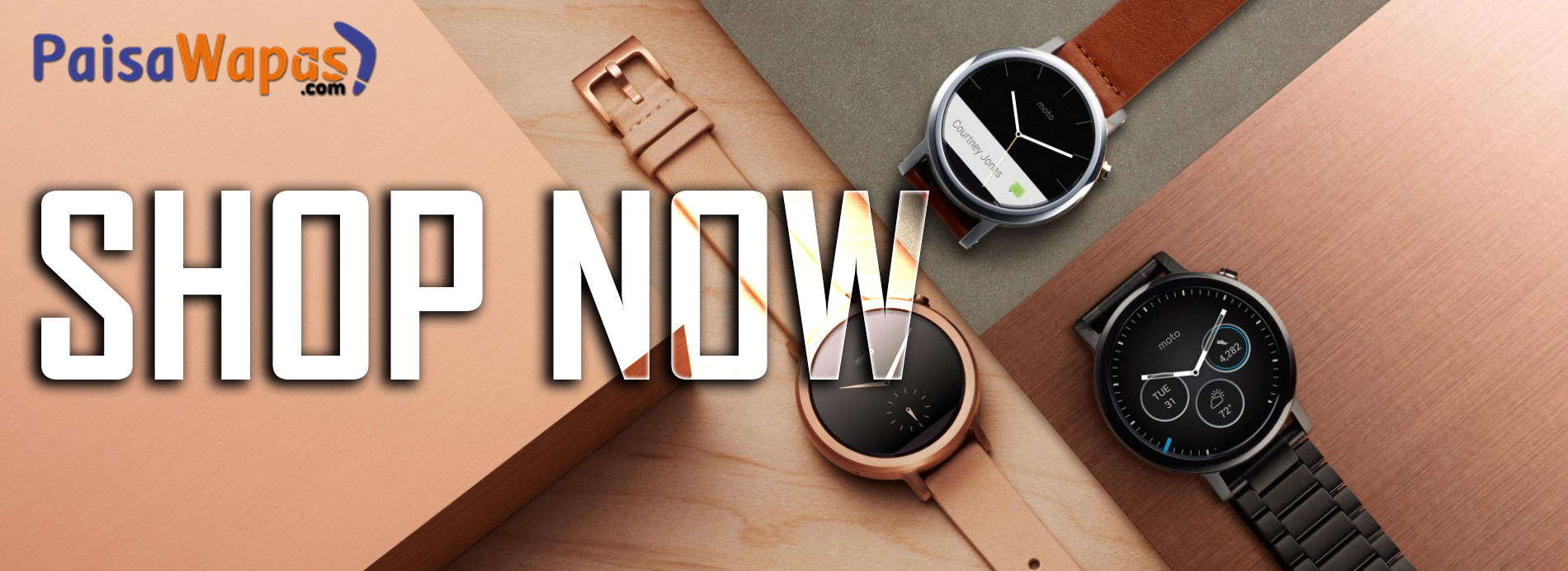 Buy Moto 360 smartwatch at paisawapas.com