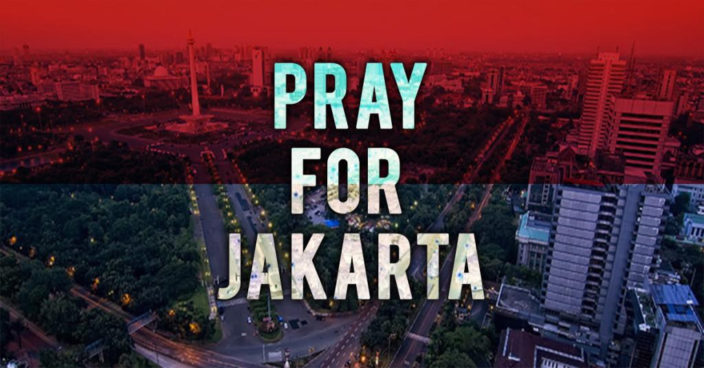 #PrayForJakarta