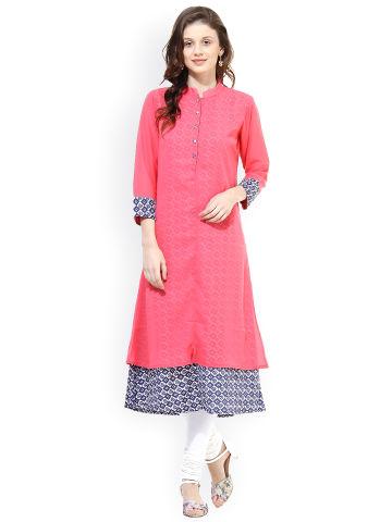la-firangi-pink-layered-kurta
