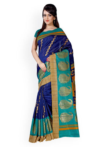 saree-mall-blue-printed-banglori-art-silk-georgette-traditional-saree