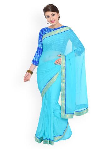 moiaa-turquoise-blue-chiffon-saree