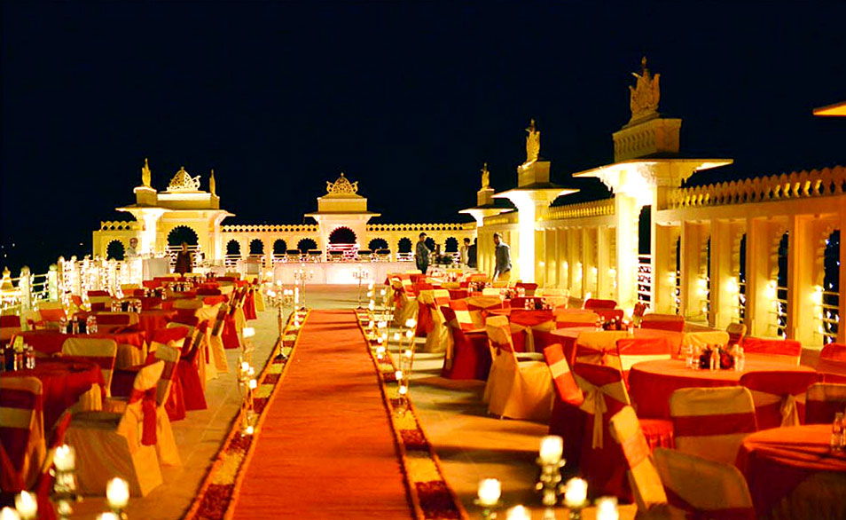 udaipur destination wedding setup