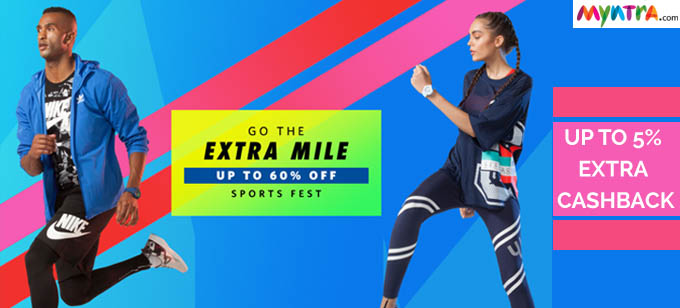 Get up to 60% Off on Myntra Sports Fest
