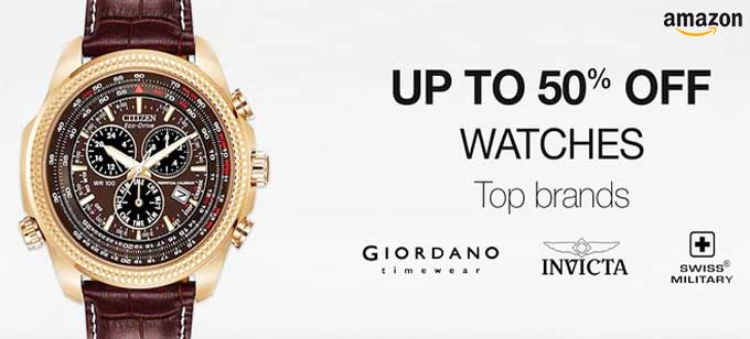 Up to 50% Off on Watches from top brands on Amazon