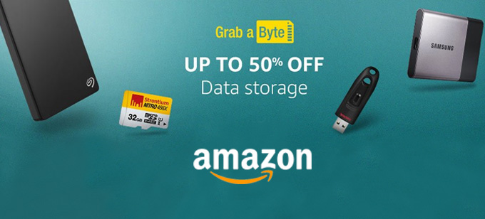 Upto 50% OFF on Data Storage Devices from Amazon