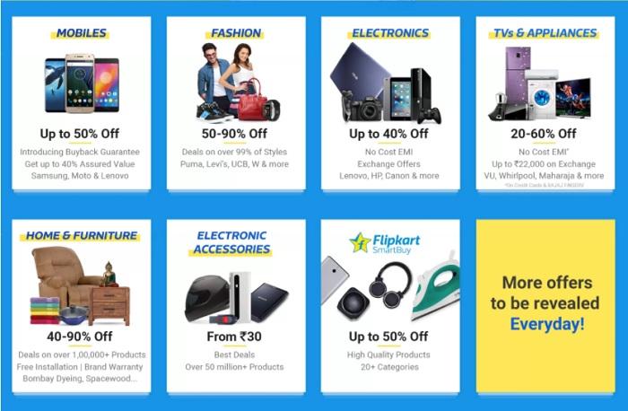 Flipkart sale offers