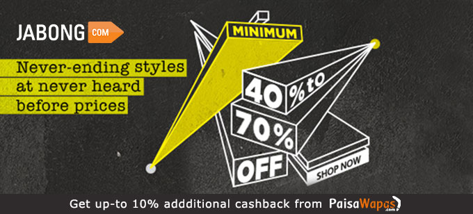 Min 40-70% off on all Lifestyle products from Jabong