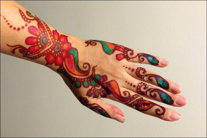 Multicoloured mehendi