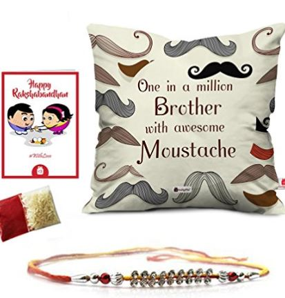 Designer Crystal Studded Rakhi for Brother at Amazon