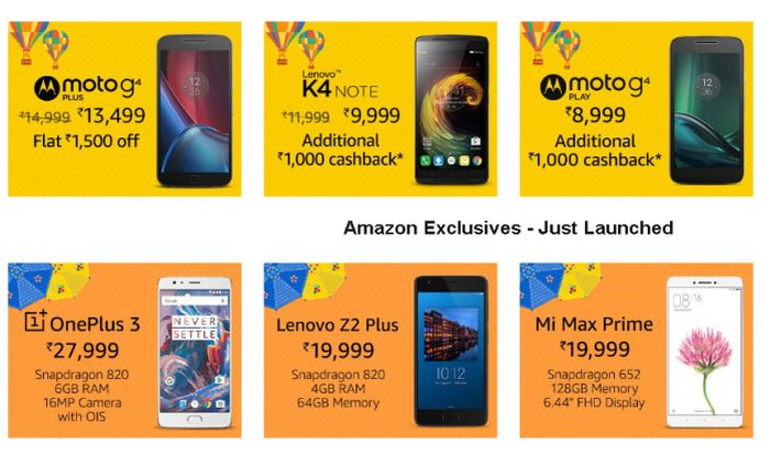 Amazon Great Indian Sale offers on mobile, laptops and more