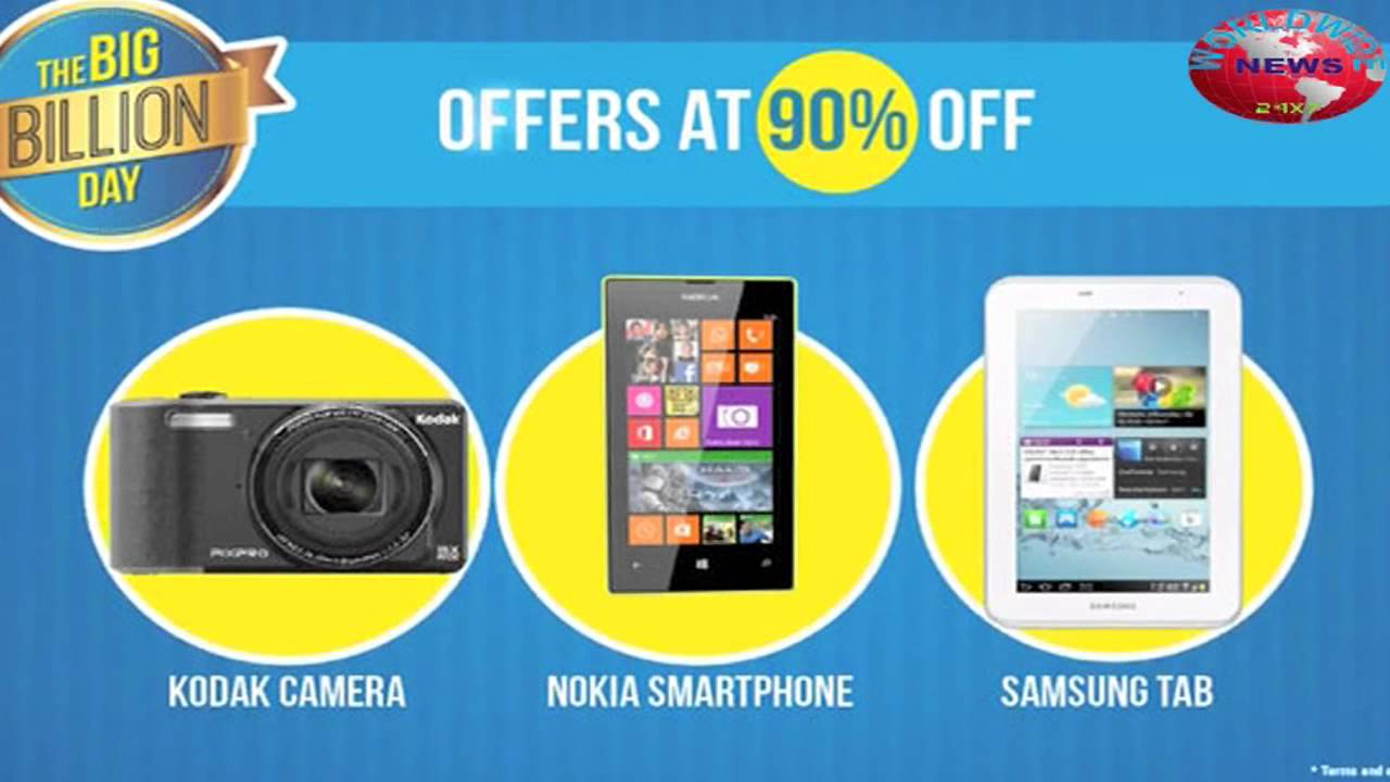 Flipkart Big Billion Day Offer on Mobile, Smartphone and Tablets