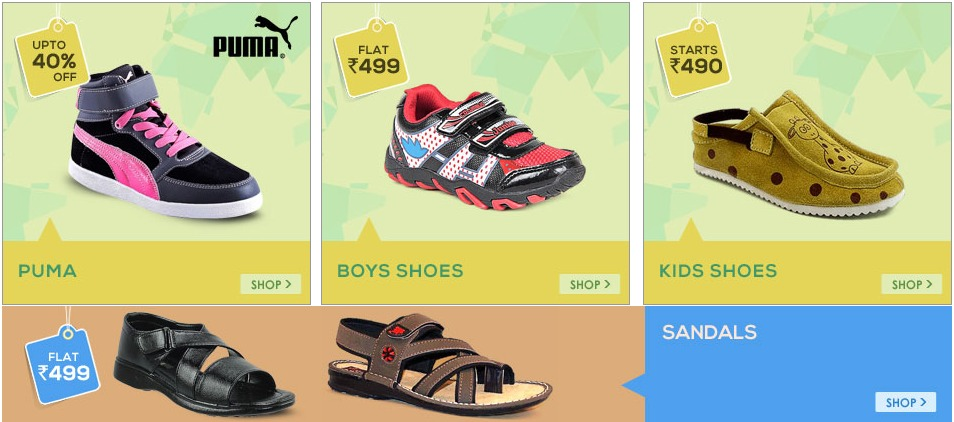Footwear for men and women on Shopclues Sale