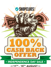 Shopclues Independence Day sale cashback offers
