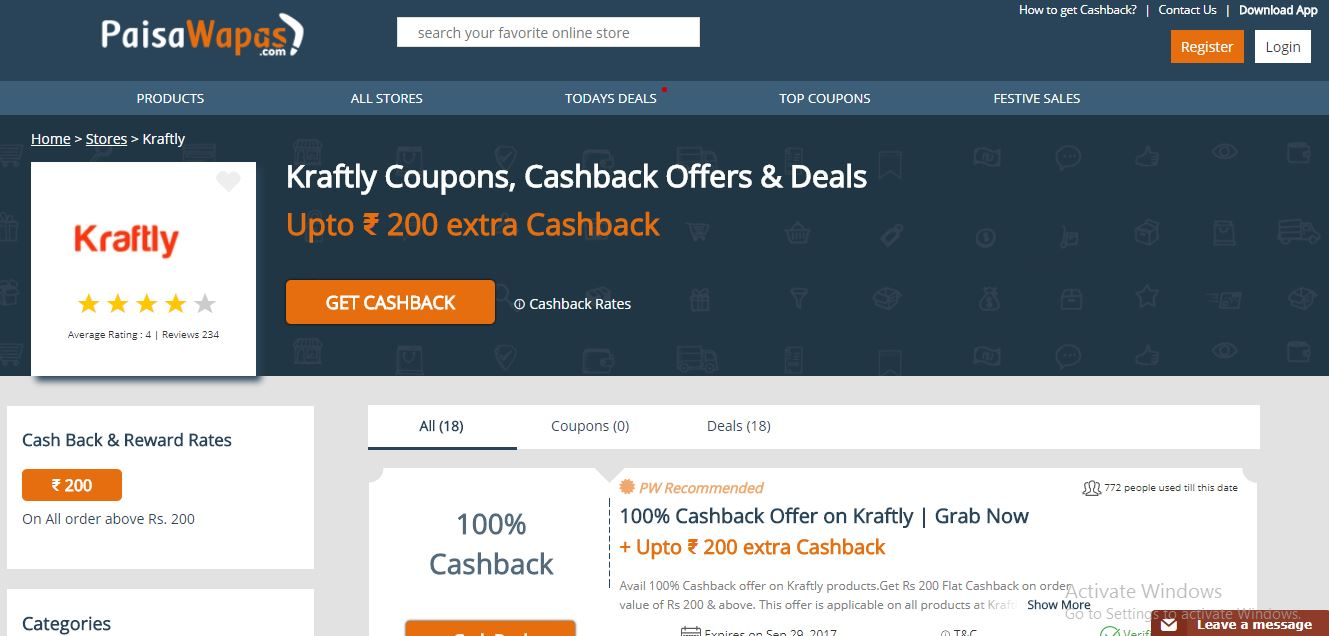 Kraftly coupons and Cashback