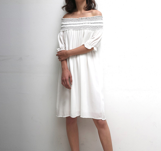 Off Shoulder Chiffon Dress collection on Ajio