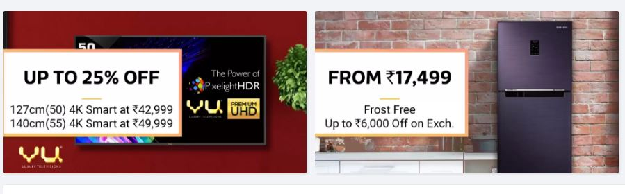 Biggest Home Applinces Offers on Flipkart BIg Billion Day Sale
