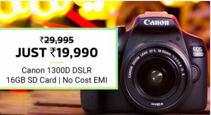 Flipkart Big Billion Day Sale on Canon DSLR Cameras
