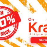 Kraftly 100% Cashback Sale