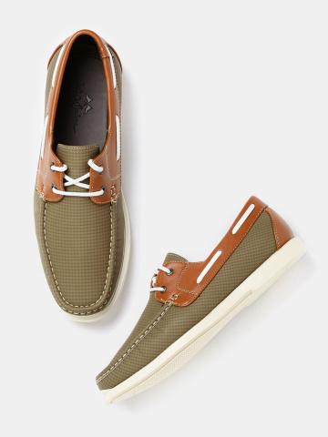 Mast & Harbour Men Brown Boat Shoes