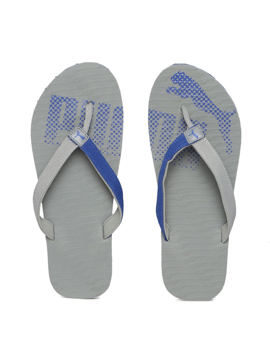 Puma Unisex Grey & Blue Miami Fashion II DP Printed Flip-Flops