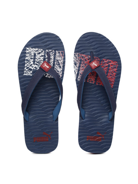 Puma Unisex Navy & Red Miami Fashion II DP Printed Flip-Flops