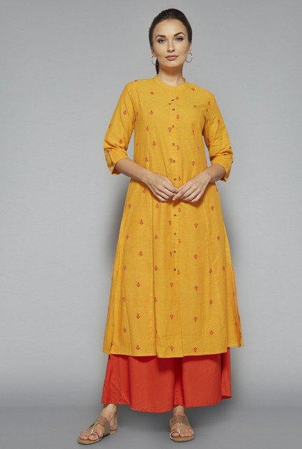 Utsa by Westside Yellow Printed Kurta