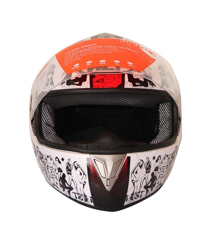 Wlt White Full Face Helmet