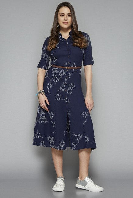 Bombay Paisley by Westside Navy Printed Dress Price online