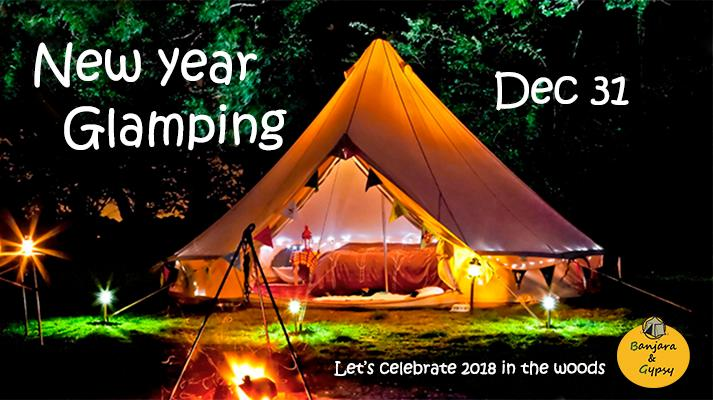 New Year Camping in Woods 2018