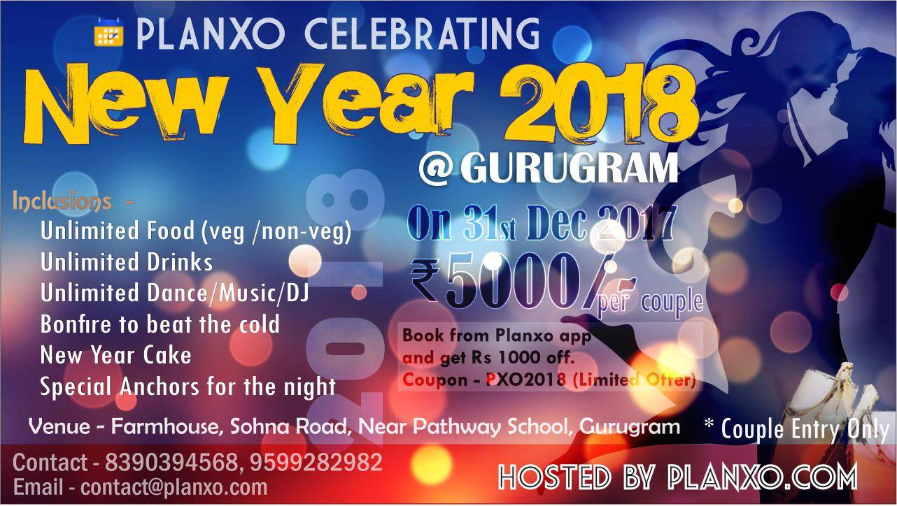 New Year eve celebration 2018