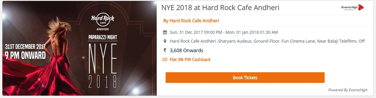 Best New Year Party in Mumbai 2018