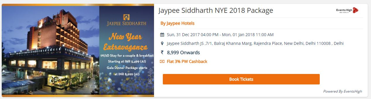 New Year Celebration in 5 Star Hotels in Delhi NCR