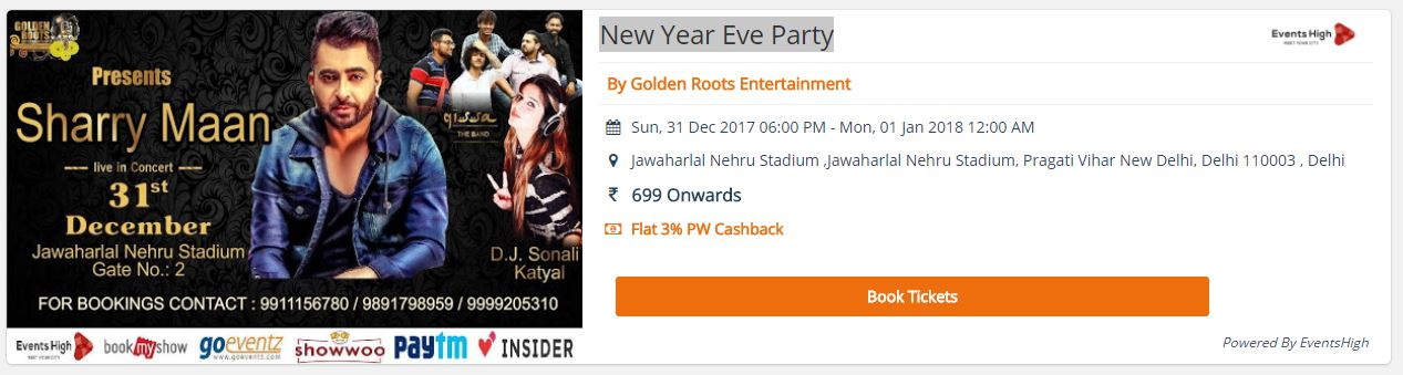 new year parties in delhi ncr 2018
