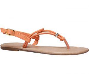 bata orange sandal