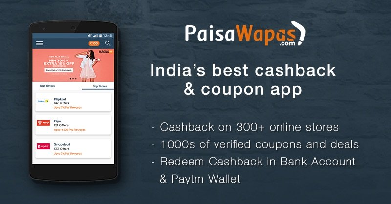 PaisaWapas: Coupons, Promo Codes & Cashback Offers for Sep 2019